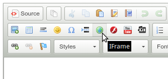 iframe button