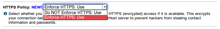 HTTPS policy setting