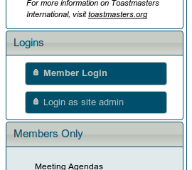Member login button