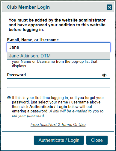 FreeToastHost 3 - Browsing and Logging in